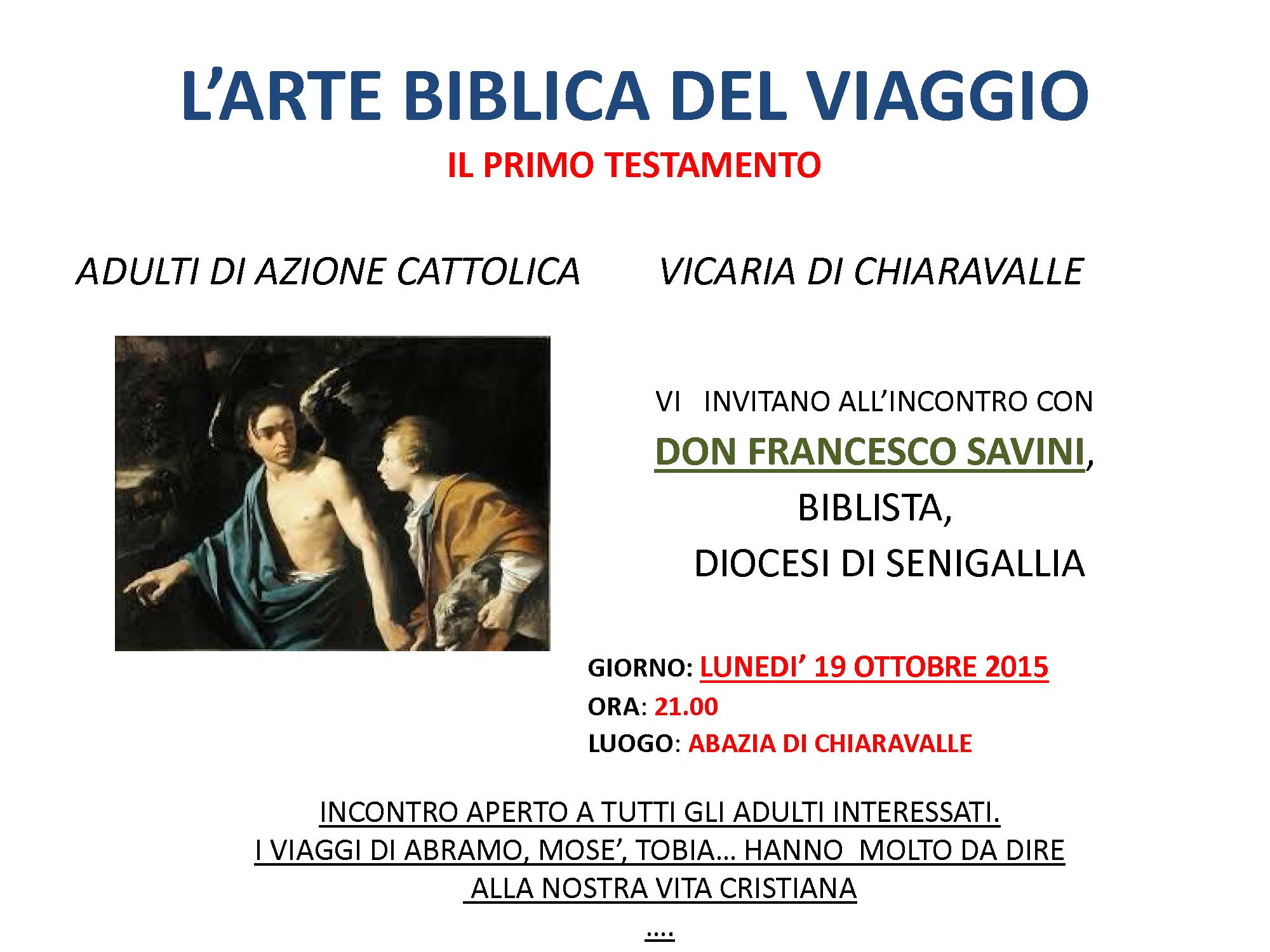 Arte biblica del viaggio