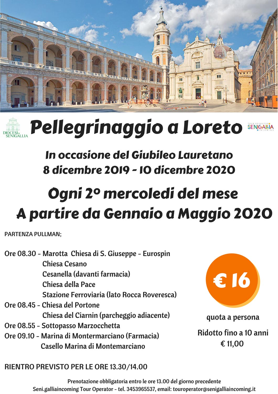 Pellegrinaggio a Loreto, ogni 2° mercoledì del mese da gennaio a maggio 2020 (SOSPESO)