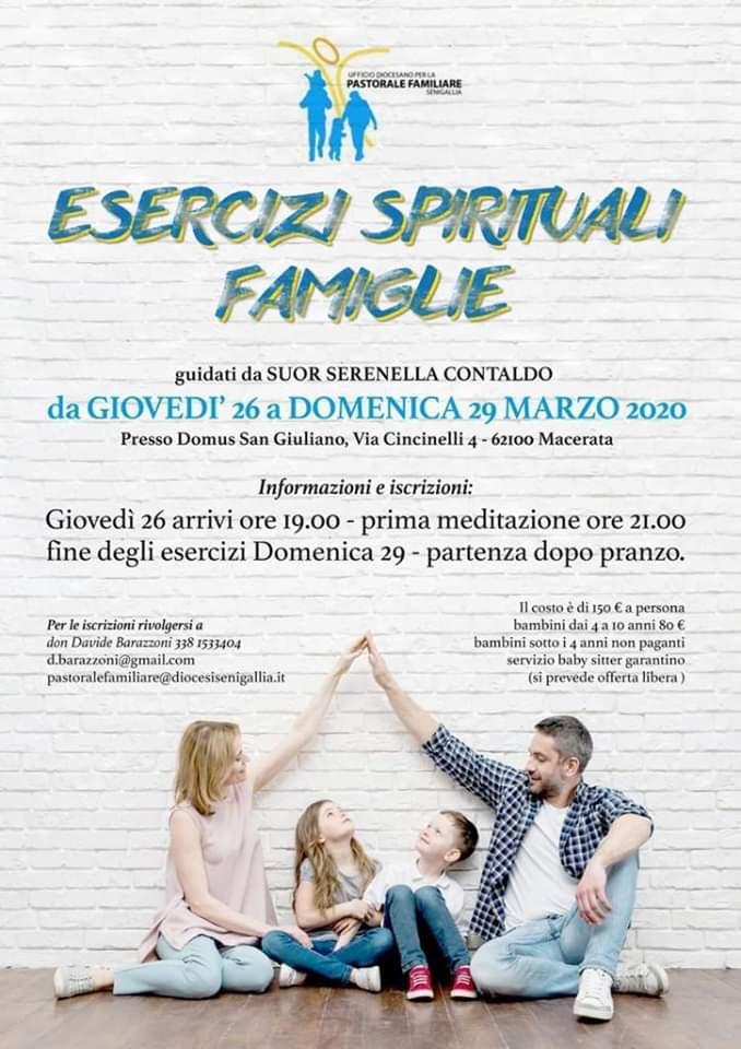 Esercizi spirituali famiglie – 26-29 marzo 2020 (RIMANDATI)