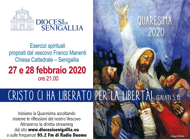 Quaresima 2020: Esercizi Spirituali proposti dal Vescovo Franco Manenti