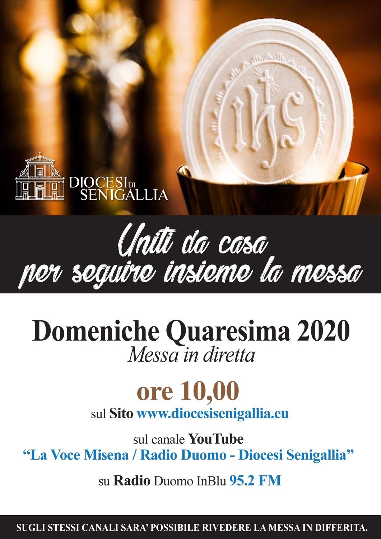 Uniti da casa per seguire insieme la Messa – Domeniche di Quaresima 2020 Messa in diretta alle ore 10.00