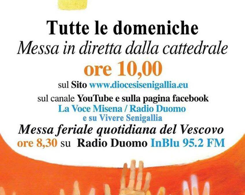 Tutte le domeniche Messa in diretta dalla Cattedrale alle ore 10.00