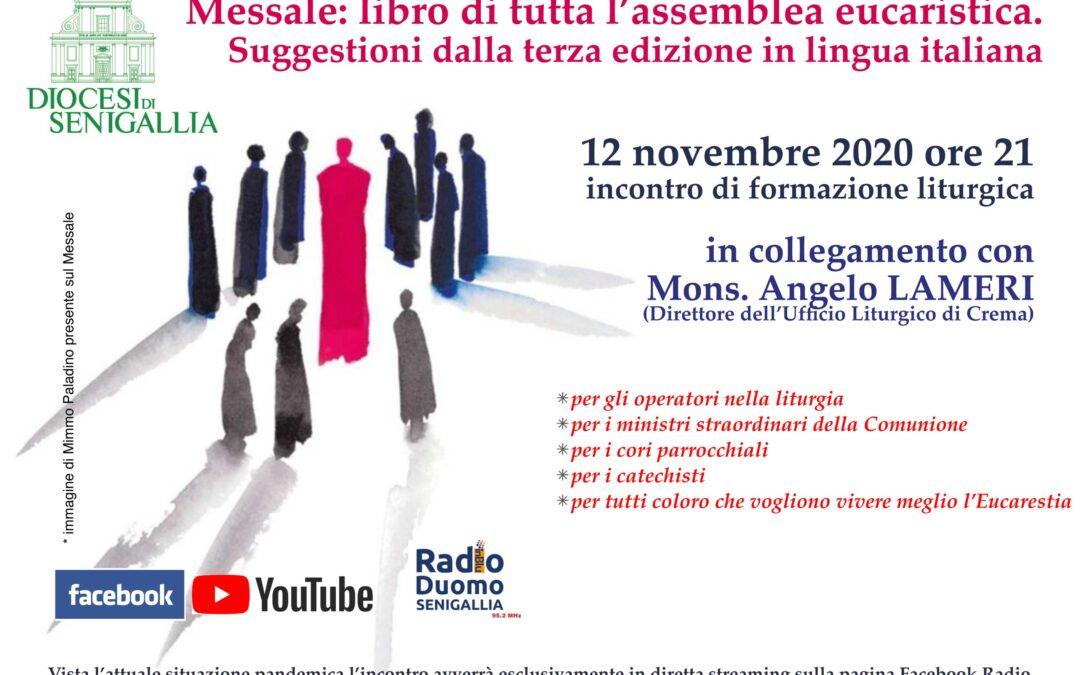Messale: libro di tutta l'assemblea eucaristica – 12 novembre 2020