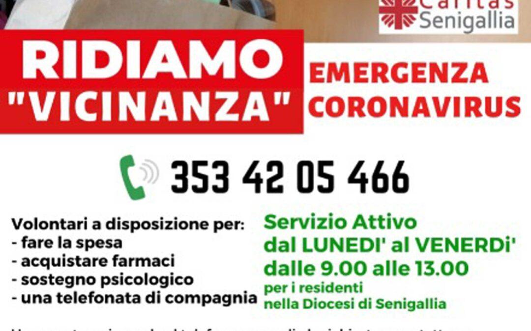 "Ridiamo ""vicinanza"" – emergenza coronavirus  tel. 3534205466"